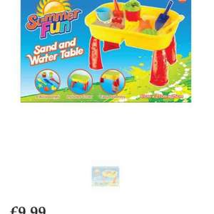 sand and water table from the range £9.99 / 13.94 delivered