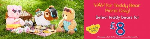 Teddy Bears Picnic Day @ Build a Bear, bears £8.00