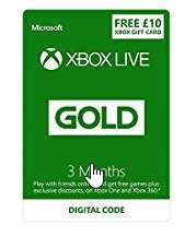 Xbox Live 3 Month Gold Membership + £10 Xbox Live Currency [Xbox Live Download Codes] Prime Day Deals - Up to 60% off Ga £12.99 @ Amazon