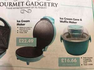 Price Error Ice Cream Maker for the price of Cone/Waffle Maker £16.66 @ CPC Farnell