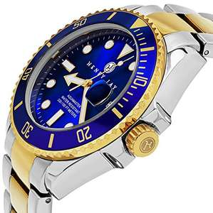 "Henry Jay - Mens 23K Gold Plated Two Tone Stainless Steel ""Specialty Aquamaster"" Professional Dive Watch £49.99 @ Amazon"