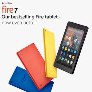 Fire 7 Tablet with Alexa 8GB  -  Various colours £29.99 @ Amazon Prime Day deal