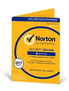 Norton Security Deluxe 3.0 | 5 Devices | 1 Year | PC/Mac/iOS/Android £18.99 prime day / Amazon