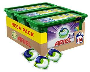 Ariel 3 in 1 Colour Washing Capsules, 114 Washes - Pack of 3 £17 prime exclusive @ amazon