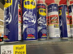 WD40 half price £2.75 450ml instore @ Tesco (Hamilton)