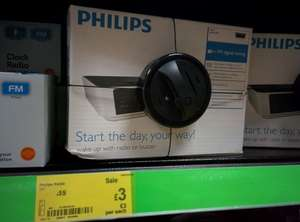 Philips Digital FM Alarm Clock Radio £3 @ Asda in store