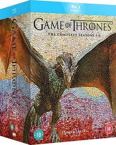 Game of Thrones Seasons 1-6 Bluray £39.89/DVD £33.24 - Amazon Prime Day