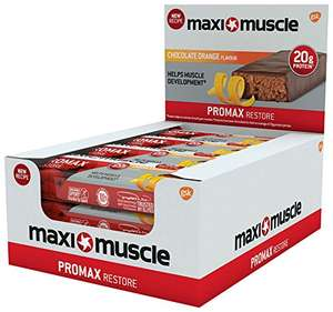 Bargain! Maximuscle Promax High Protein Bar pack of 12 only £9.99 Amazon Prime
