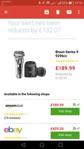 Braun series 9 -9296cc £189.99 Amazon