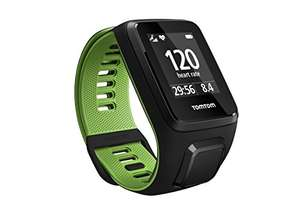 Tom Tom Runner 3 GPS Running Watch with Heart Rate Monitor and Music - Large Strap, Black/Green £129.99 @ Amazon prime day