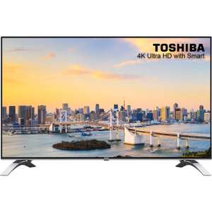 "Toshiba 43U6663DB 43"" Freeview HD and Freeview Play Smart 4K Ultra HD TV - Silver £279 Delivered with code @ ao"