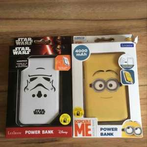 Star Wars & Minion 4000mah power banks reduced in Tesco instore - £3.50
