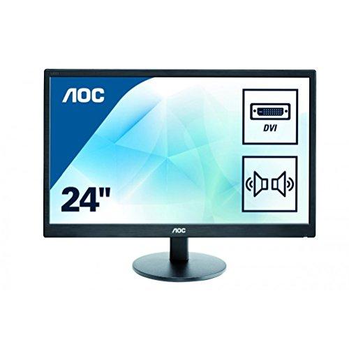 AOC 23.6 inch LED Monitor, DVI, VGA, Speakers, Vesa E2470SWDA 75Hz (used like new) £60 @ Amazon Warehouse (Prime Day)