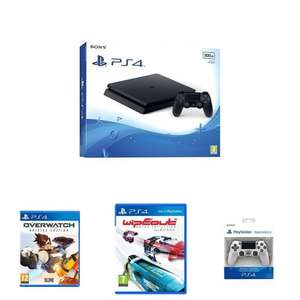 £179.99 - Sony PlayStation 4 (500GB) + Overwatch + Wipeout + 2nd Dualshock 4 Controller . Amazon Primeday Deal