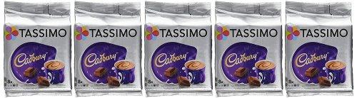 5 boxes of Tassimo Cadbury Hot Chocolate Drink (8 pods per box = 40 servings) - £9.98 Prime (£14.73 non Prime) @ Amazon