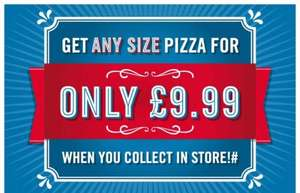 Domino's any size pizza collection only £9.99