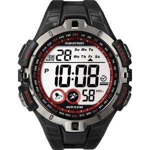 Timex Marathon LCD Dial Chronograph Resin Strap Men's Watch £13.59 Del as Part of Amazon Prime Day