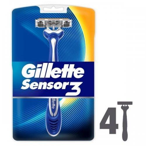 Gillette Sensor3 Sensitive Disposable Razors x 4 - Better than half price at Superdrug £2.88