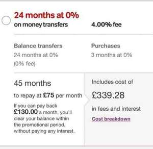 Virgin balance transfer credit card. 24 months 0% with a 0% transfer fee