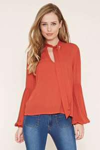 Upto 70% off sale plus free delivery on everything eg tie neck blouse was £19 now £5.70 delivered @ Forever 21