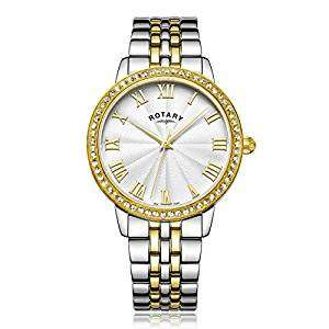 Rotary Women's Quartz Watch with Silver Dial Analogue Display and Two Tone Stainless Steel Bracelet now £78.40 @ Amazon (applies at checkout)