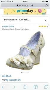 Irregular choice shoes @ amazon prime day size 6 £38.44 20% discount taken off at checkout