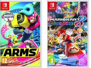 Nintendo Switch - Arms £34 & Mario Kart 8 Deluxe £31.99 with Code STUDENT10 @ Amazon