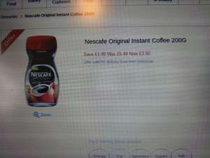 Nescafe original 200G jar only £3.50 at tesco