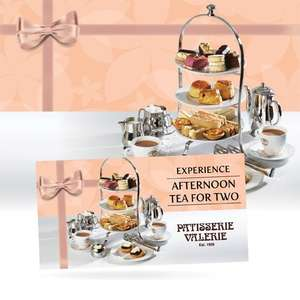 Afternoon Tea + 2 Free Slices for £20 + P&P @ Patisserie Valerie