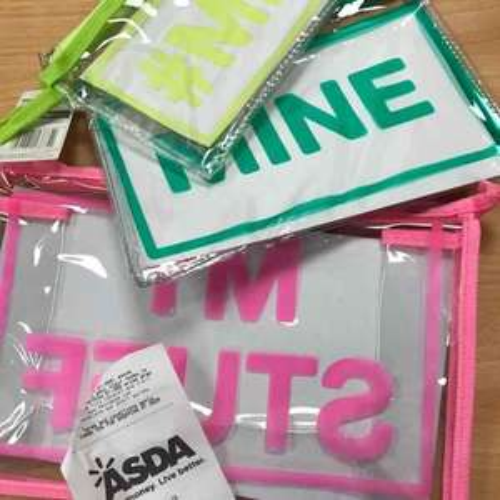 Triple pencil case pack 30p Asda instore