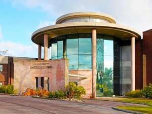 1 Night for Two with Dinner, Breakfast, Bottle of wine, Leisure Access and Afternoon Tea at Daresbury Park Hotel £34.50pp @ Groupon