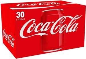 Coca Cola original, diet and zero 30 x 330ml cans - £7.50 at Asda from 13/7