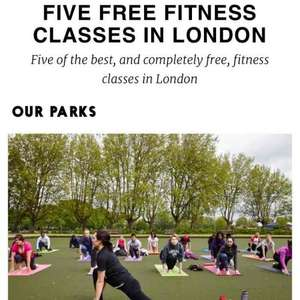 FREE 5 x fitness classes in London, for all abilities