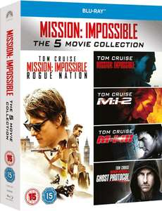 Mission Impossible - 1-5 Boxset Blu-ray £9.77 @ ZOOM using code ZD20JULY10