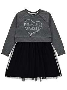asda george girls dress and jumper set £3 down from £12 sizes 7-8 to 9-10 are available