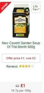 New Covent Garden Soup - £1 - MORRISONS ('till July 23rd) and ASDA (600g) FREE SOUP with NEW £1 off downloadable voucher (Valid 'till October) -  £1.17 at TESCO (700g)- Links in Deal Details