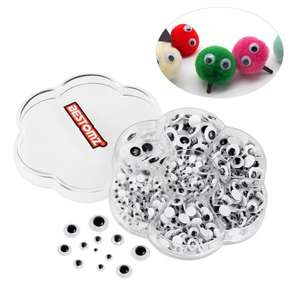 BESTOMZ 700 Pieces Mixed Wiggle Googly Eyes £5.19  (Prime) / £9.18 (non Prime)  Sold by BESTOMZ STORE and Fulfilled by Amazon.