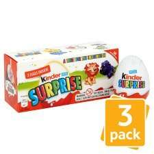 Kinder Surprise Egg 3 pack on offer 2 for £3.00 (50p each) @ Tesco instore and online
