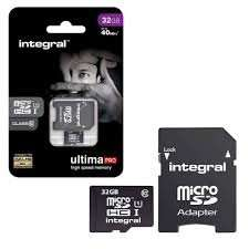 Integral Micro SDHC with Full Size SD Card Adapter - 32GB @ 7dayshop £10.69 delivered