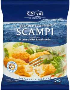 Kintyre Breaded Scampi (235g) was £4.00 now 3 for £5.00 @ Tesco