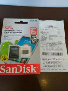 SanDisk UL microSDXC UHS-I Card with Adaptor £19.50 @ Tesco - Derry, N.Ireland