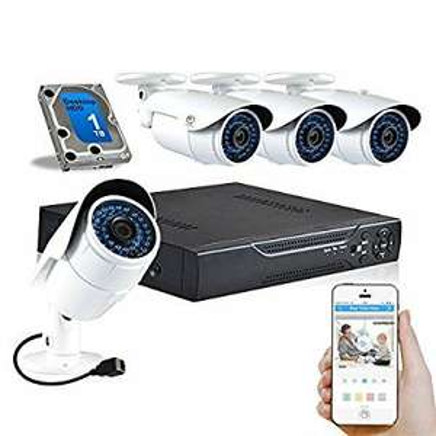 Amazon lightning deal - JOOAN HD 720P POE Kit 4CH CCTV NVR 1.0MP Waterproof Bullet Security Camera + 1TB Internal HDD 4 Channel CCTV Camera System 36IR LEDs Night Vision