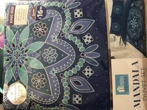 Mandala king size duvet set 10p @ b&m