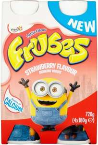 Frubes Drinking Yogurt, Strawberry (4 x 180g) was £2.50 now £1.00 @ Sainsbury's