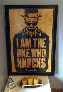 Breaking Bad framed picture, 63cmX93cm £2 @ B&Q, Free Click and Collect.