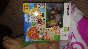 GAME - Animal Crossing amiibo festival Wii u game with 3 amiibo cards and 2 amiibos (pre-owned) instore for £4.99