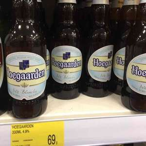Bottles of 330ml Hoegaarden beer 69p @ B&M