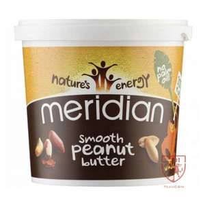 Cardiff Sports Nutrition - MERIDIAN SMOOTH PEANUT BUTTER 1KG 6 PACK - £20.99