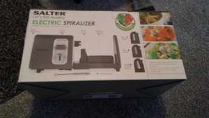 Salter electric spiralizer  tesco £9.75  stacked at crewe tesco store confirmed  national
