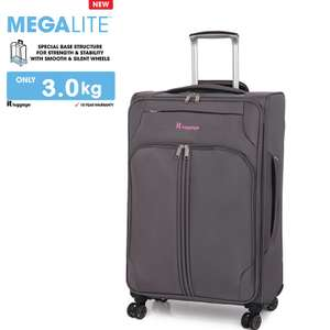 it luggage Grey Megalite 8 Wheels Large Suitcase 40% off @ bagsetc.co.uk